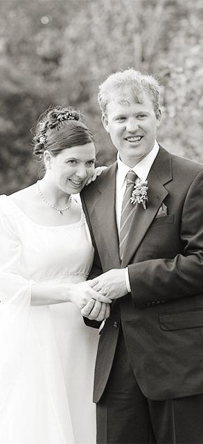 Wedding couple during ceremony