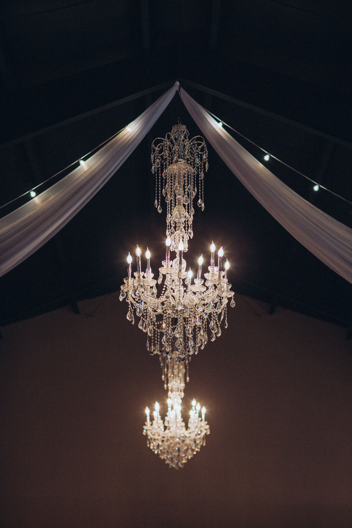 Chandeliers hang above the main hall at Wedgewood Black Forest.